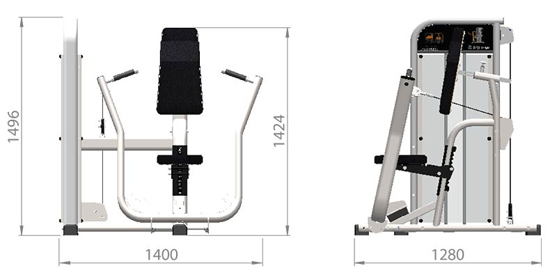Selectorized Chest Press Product Dimensions