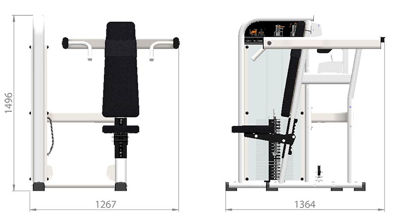 Selectorized Shoulder Press Product Dimensions