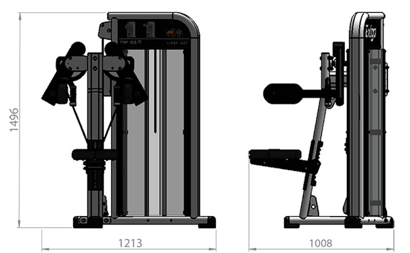 Selectorized Lateral Raise Product Dimensions