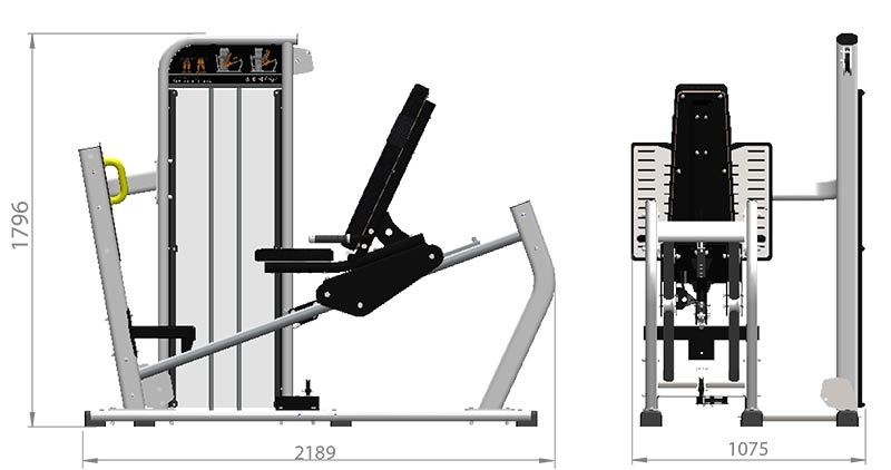 Selectorized Seated Leg Press Product Dimensions