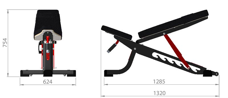 Adjustable Bench Product Dimensions
